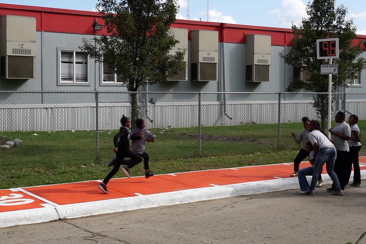 Brightmoor Runway. Urban Intervention, 2017. Detroit, Michigan, USA. Photo: Assocreation.