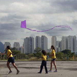 Pipa Vista. Urban Intervention, 2019. Parque Villa Lobos, São Paulo, SP, Brazil. Photo: Assocreation.