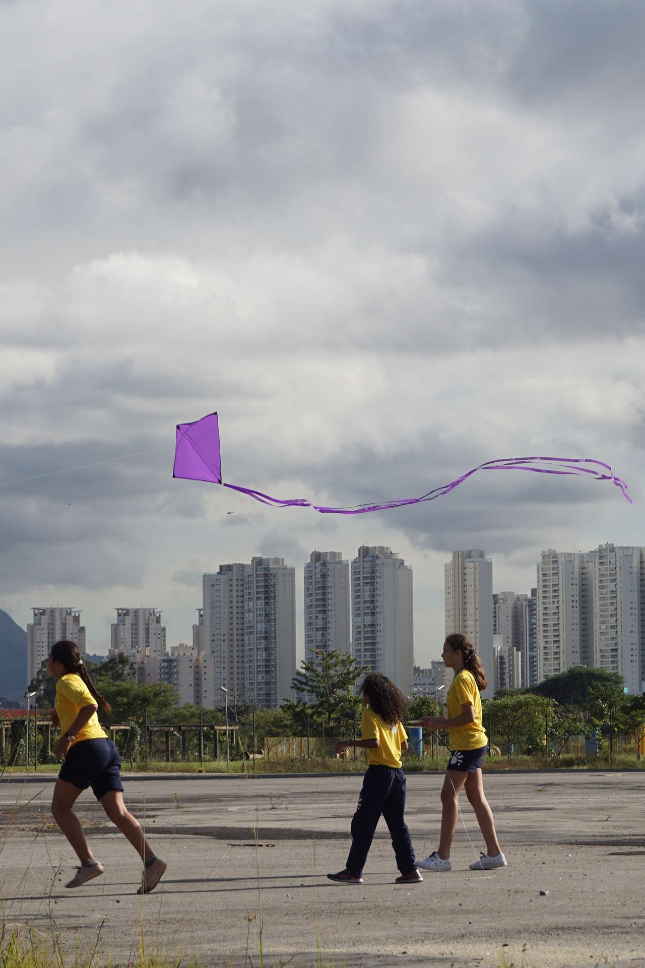 Pipa Vista. Urban Intervention, 2019. Instituto Acaia, São Paulo, SP, Brazil. Photo: Assocreation.